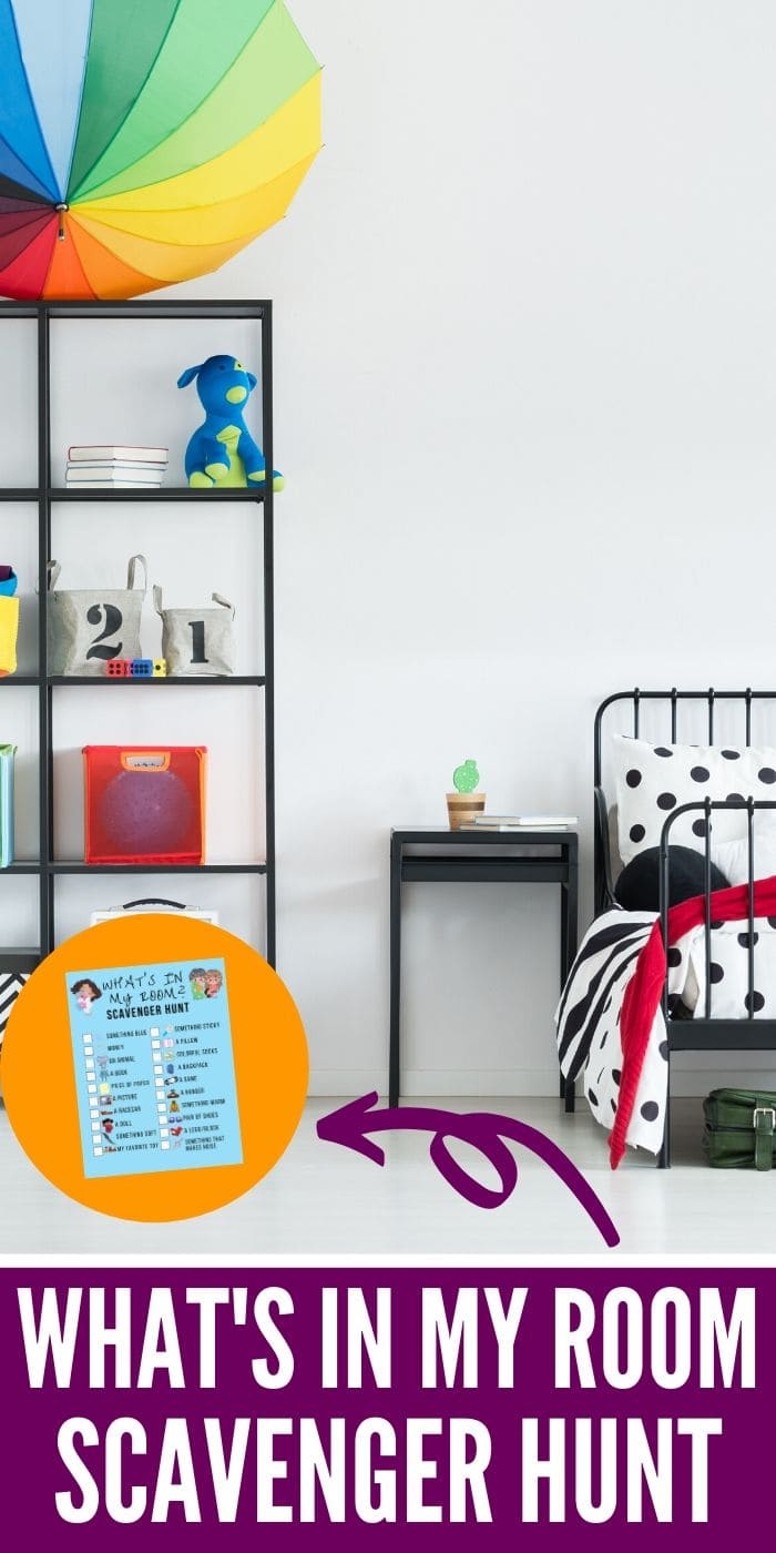 """FREE Printable Indoor """"In My Room"""" Scavenger Hunt 