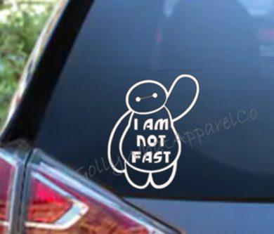 baymax friendly car decal sticker Big Hero 6 gift ideas