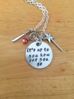 Quote necklace from the sword in the stone