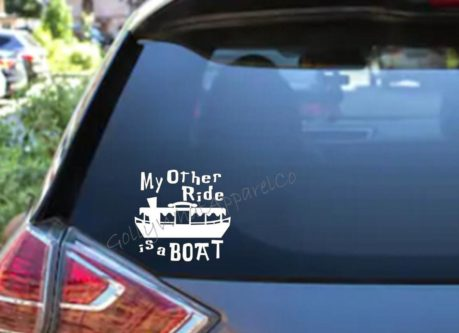 my other ride is a boat vinyl decal