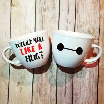 Would you like a hug? Baymax head coffee mug