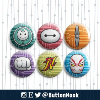 Big Hero 6 gift ideas collecting buttons