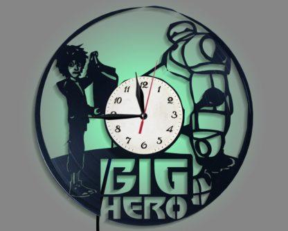 Big Hero 6 Record Viynl record clock