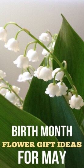 May Flower Gift Ideas | Floral Themed Gifts | Gift Ideas for Flower Lovers | Gardener Gift Ideas | May Flower Birthday Gifts | Lilly of the Valley Gift Ideas | #maybirthday #birthdaygifts #floral #gardening #gifting