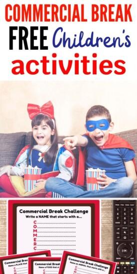 Commercial Break Free Children's Activity | Kids Activity | Keeping Kids Brains Working | Challenge For Kids | Unique Kids Challenge | #kids #activity #challenge #creative #uniquegifter
