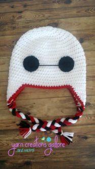 crochet handmade baymax beanie