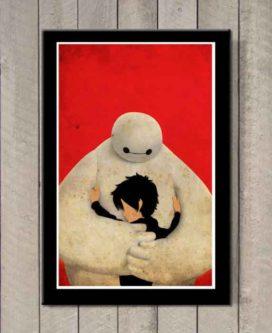 Adorable Baymax and Hiro art print wall decor pixar decorations