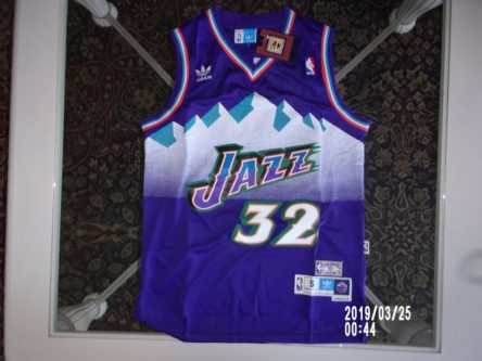 Karl Malone Jazz collectible jersey