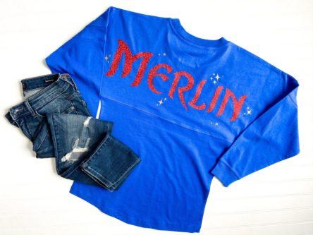 Spirit Jersey style sweatshirt Merlin from the sword in the stone