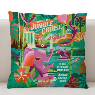 jungle cruise retro poster throwback pillowcase