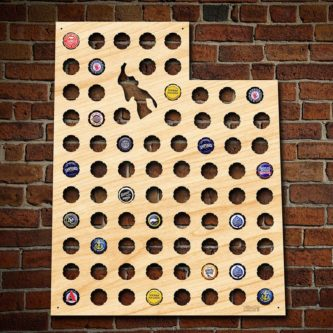 Utah shaped beer cap craft beer basketball fan gift idea