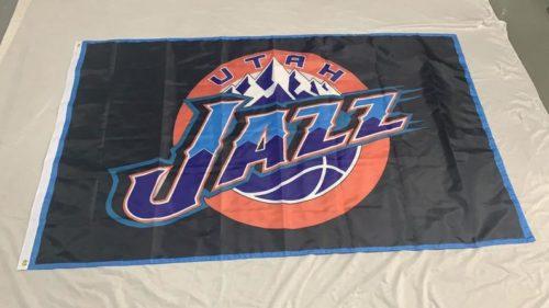 Utah jazz fan flag large flag with Jazz logo