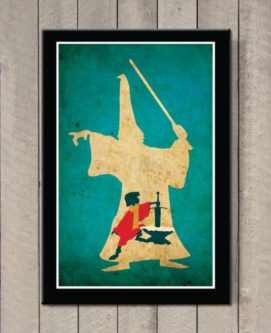 Original Disney the sword in the stone film art print