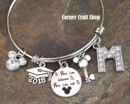If you can dream it Disney charm bangle for graduates