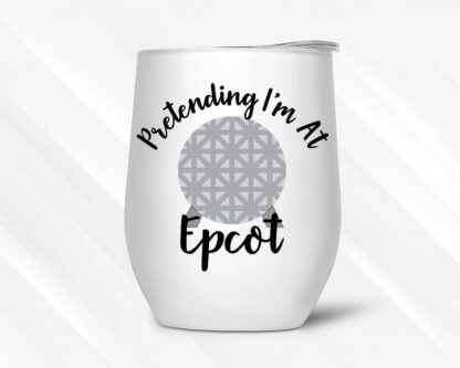 Epcot themed wine tumbler gift idea