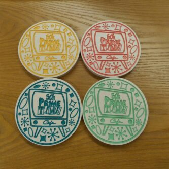 prime time cafe coasters