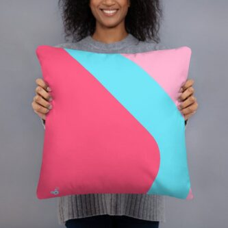 bubblegum wall throw pillow