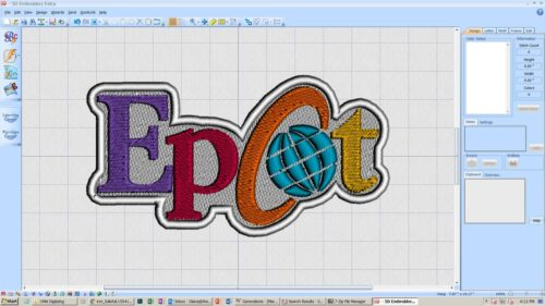 custom iron on epcot patch