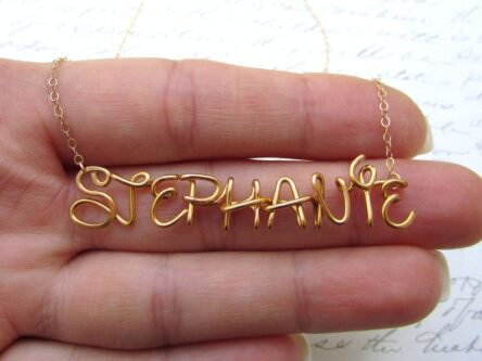 Disney font custom necklace