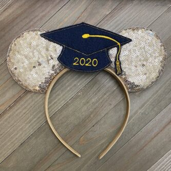 gold graduation minnie ears