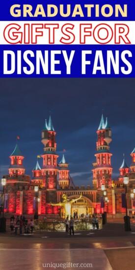 Disney Grad Gifts | Grad Gifts for Disney Fans | The Best Disney Graduation Gifts | Fun Grad Gift Ideas | Disney Grad Gift Ideas | #gradgift #gradparty #giftidea #disney #party
