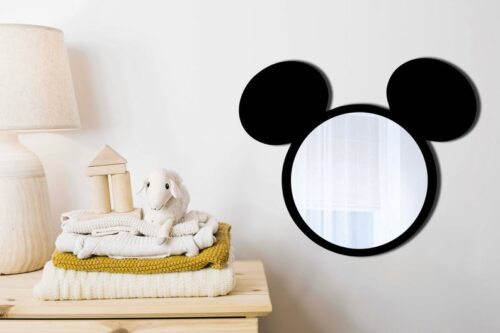 Mickey mouse wall mirror gradutation present