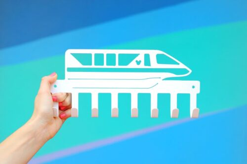 monorail key holder decor piece