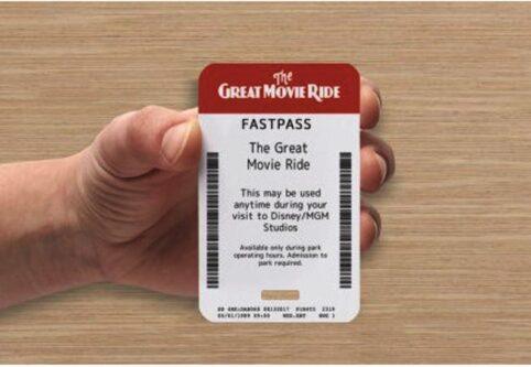 Great movie ride fastpass holder