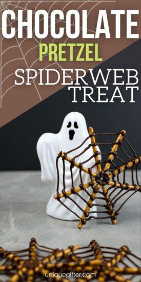 Chocolate Pretzel Recipe | Spiderweb Treat | Halloween Party Snack | Chocolate Spiderweb | Sweet and Salty Snack | Halloween Snack Recipe | Spooky Treats | #Halloween #treats #snack #chocolatepretzel #spooky
