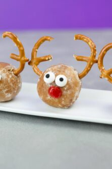 cute rudolf the reindeer Christmas fingerfood