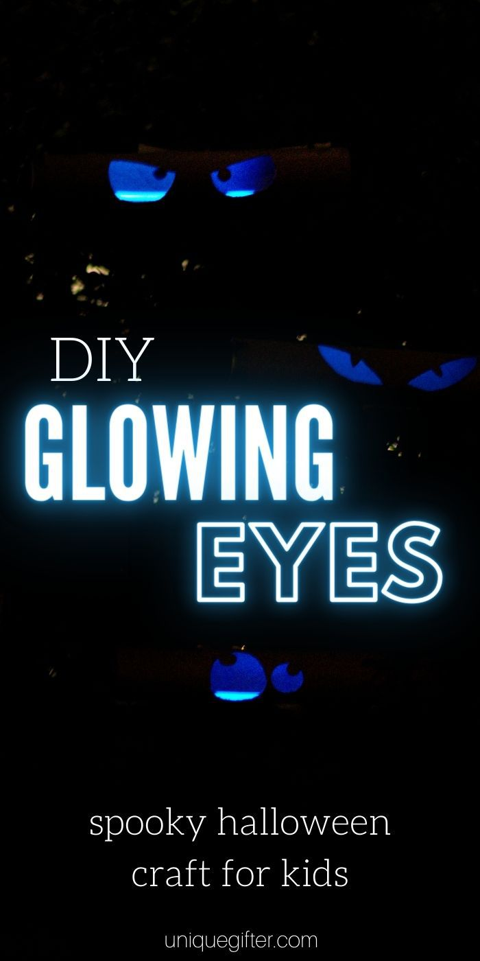 Glowing Eyes DIY | DIY Halloween Craft | The Best Spooky Craft | Halloween Craft for Kids | Kids Crafts | DIY Paper Towel Roll Crafts | Upcycled DIY Crafts | #upcycled #craft #DIY #Halloweencraft #Halloween