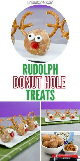 Donut Hole Christmas Treat | Donut Hole Reindeer treat | Donut Hole Recipes | Christmas Snack Recipe | Christmas Snack Recipe | Christmas Party Finger Food Recipe | #christmas #holidays #reindeer #rudolf #donutholes
