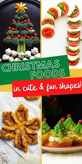 Christmas Dish Ideas | Christmas Shaped Foods | Holiday Shaped Foods | Christmas Themed Recipes | Christmas Salad Recipe | Holiday Pull Apart Bread | Christmas Appetizers | Christmas Recipes | #recipes #Christmas #holidays #savory #appetizers