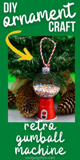Christmas Ornament DIY | DIY Gumball Machine Ornament | Candy Ornament | DIY Ornament for Christmas Tree | Christmas Tree Ornament Craft Idea | #gumball #gumballmachine #ornament #DIY #Christmas