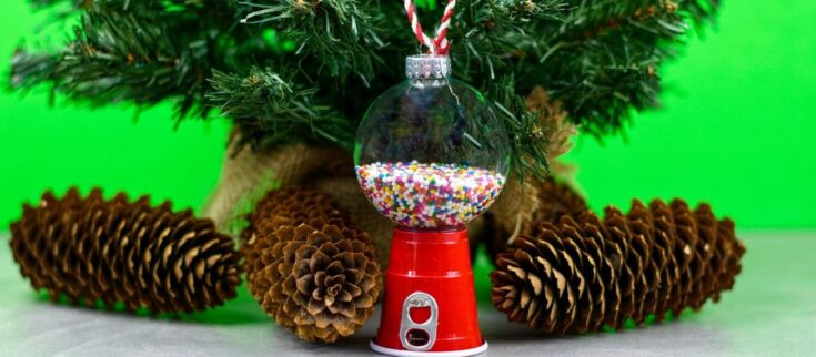 Retro Gumball Machine DIY Christmas Ornament