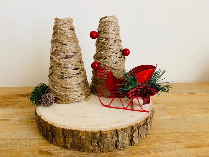 Farmhouse Jute Trees DIY Christmas Decor
