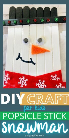 Snowman Craft | Popsicle Stick Craft Project | Christmas Crafts for Kids | Holiday Craft Ideas | Craft Projects for Kids | Holiday Crafts | Snowman Themed DIy Crafts | DIY Christmas Decorations | Christmas Crafts | #Christmas #DIY #decorations #craft #handmade #ornament
