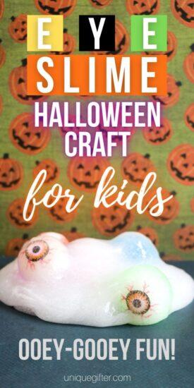 Eyeball Halloween Craft | Spooky Craft Ideas | Slime Craft Idea | Kid Friendly Crafts | Eye Slime Craft | Home Made Slime | Halloween Craft | #Halloween #craft #diy #recipe #slime #kidscraft #activity