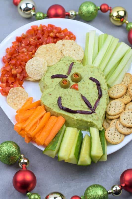 Grinch Guacamole Fun Christmas Appetizer